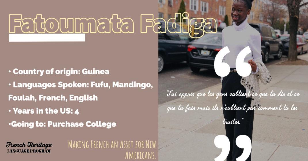 Fatoumata Fadiga, NY Seal of Biliteracy recipient